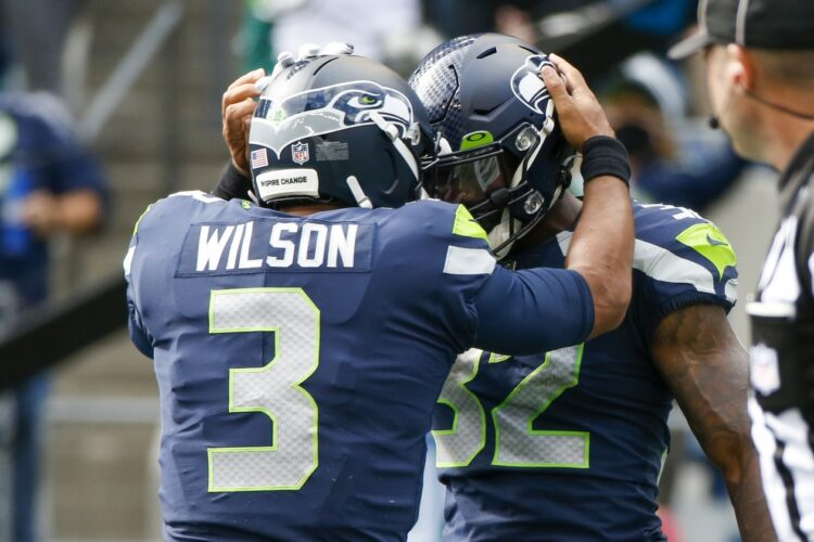 Russell Wilson and Chris Carson, Seattle Seahawks